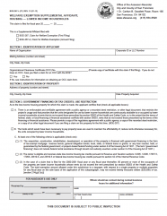 Welfare Exemption Supplemental Affidavit, Housing-Lower Income Households  (BOE-267-L)
