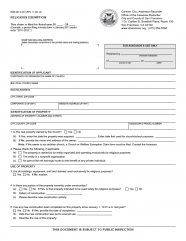 Religious Exemption Claim (BOE-267-S)