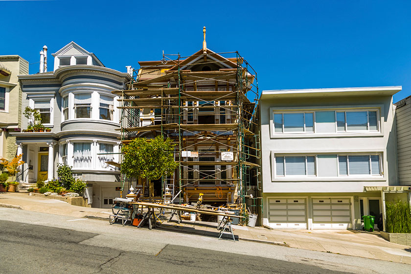 Image result for housing construction into duplex in San Francisco