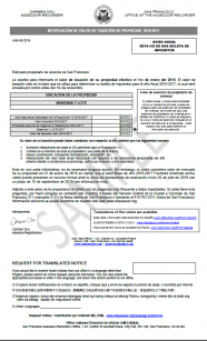 2016-2017 Notice of Assessed Value (Spanish)