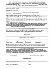 Agent Authorization Form