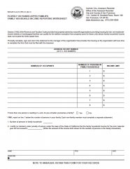 Elderly or Handicapped Families Family Household Income Reporting Worksheet (BOE-267-H-A)
