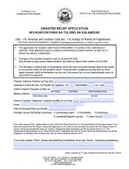 Disaster Relief Application (Tagalog - Aplikasyon Para Sa