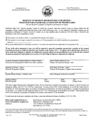 Request to Remove Homeowner's Exemption (Spanish Version - Solicitud para eliminar la exención de propietario)
