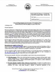 Notice of Requirement to File -- Regular Business (Spanish - Aviso de Requerimiento para Presentar el Formulario 571-L, Declaración de Estado de Empresas)