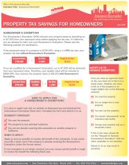 Fact Sheet - Tax Savings for Homeowners