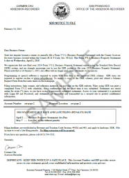Standard Data Record (SDR) Notice to File